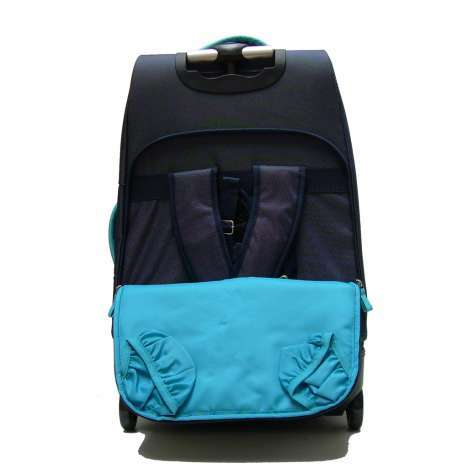 sac dos trolley 2 roulettes 70 cm bleu valises voyage. Black Bedroom Furniture Sets. Home Design Ideas