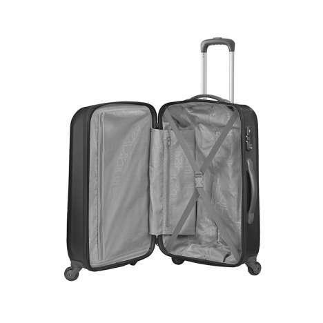 bagage cabine valise spinner 4 roulettes 55 cm american tourister prismo graphite valises. Black Bedroom Furniture Sets. Home Design Ideas