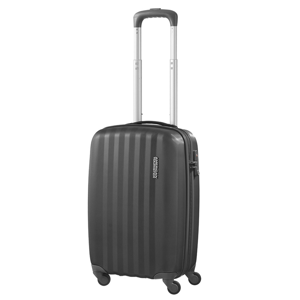bagage cabine valise spinner 4 roulettes 55 cm american tourister prismo graphite valises. Black Bedroom Furniture Sets. Home Design Ideas