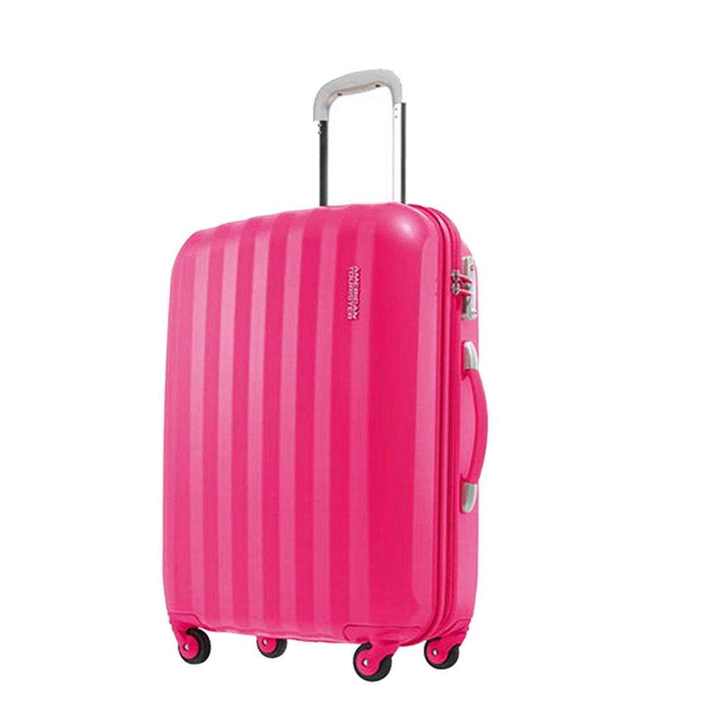 bagage cabine valise spinner 4 roulettes 55 cm american tourister prismo pink valises voyage. Black Bedroom Furniture Sets. Home Design Ideas