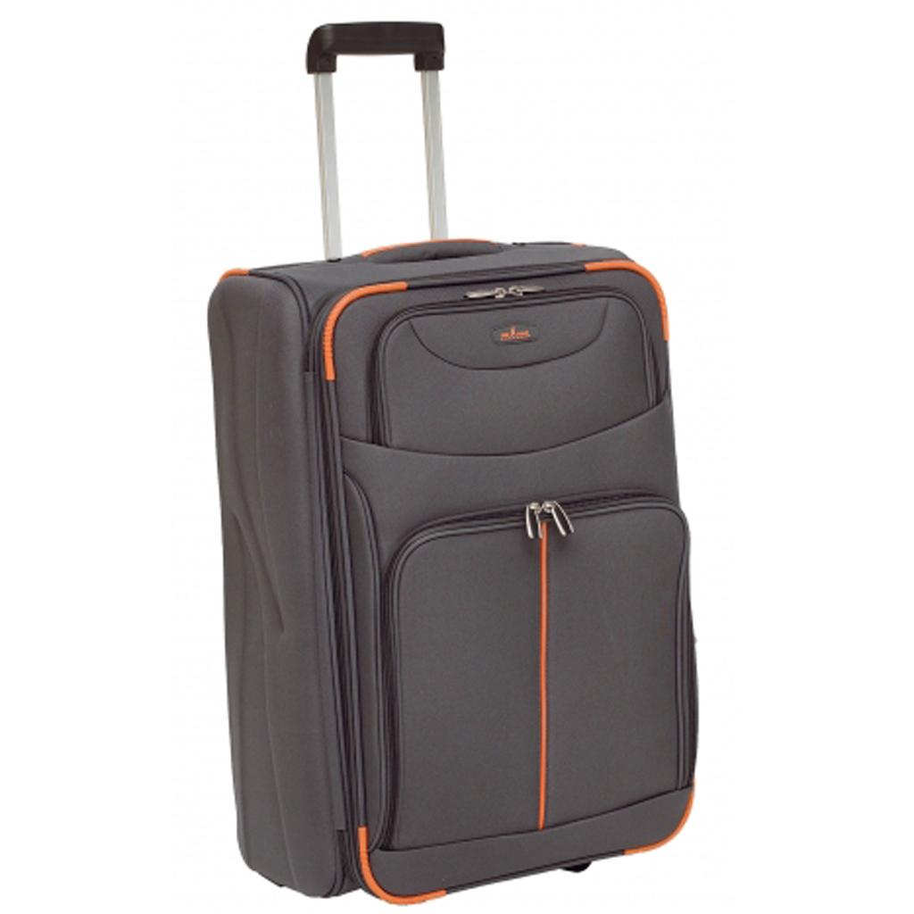valise trolley 2 roulettes exptensible 62 cm john travel sander gris valises voyage. Black Bedroom Furniture Sets. Home Design Ideas